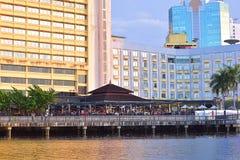 Шведский стол Рамазан берег реки берегом реки гостиницы стоковое изображение