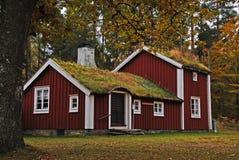 шведский язык дома старый стоковые фото