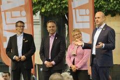 шведский язык избрания кампании Стоковые Фото