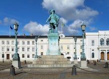 шведский язык памятника короля adolf gustav ii к стоковое изображение