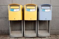 3 шведских коробки столба стоковая фотография