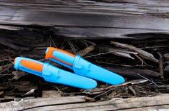 2 шведских ножа 2 пестротканых ножа Стоковое Изображение RF