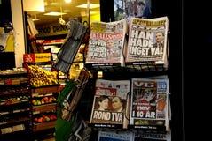 ШВЕДСКОЕ MEIDA _SWEDEN В ПОЛИТИЧЕСКОМ кризисе Стоковое фото RF