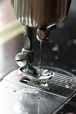 Швейная машина и деталь одежды, детали швейной машины и шить аксессуаров, старой швейной машины Стоковое Изображение