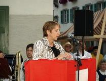 швейцарец августовской речи дня первый национальный Стоковое фото RF
