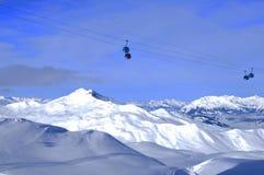 Швейцарец Альпы, город Wintersport Давос, Dischmatal, Jakobshorn Стоковое Изображение RF