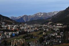 Швейцарец Альпы: Давос-город, где WEF случается Стоковое Изображение