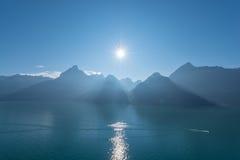 Швейцарец Альпы, кантон Uri Стоковые Фото