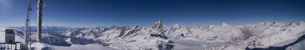 Швейцарец Альпы Маттерхорн ландшафта Стоковое Фото