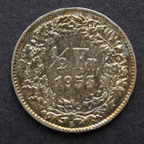 швейцарец монетки Стоковые Изображения