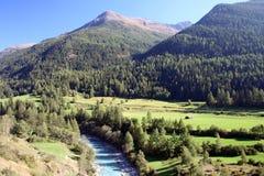 швейцарец реки ландшафта alps стоковая фотография rf