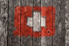 швейцарец флага Стоковое фото RF