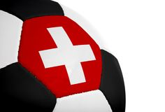 швейцарец футбола флага Стоковое Изображение RF