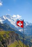 швейцарец флага Стоковые Изображения RF