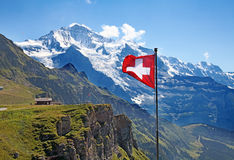 швейцарец флага Стоковая Фотография
