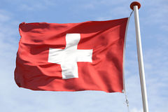 швейцарец флага Стоковое Фото