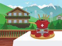швейцарец fondue Стоковые Фото
