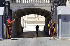 швейцарец vatican предохранителя Стоковое Изображение RF