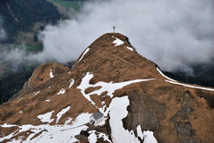 Швейцария Альпы, взгляд от верхнего Pilatus Стоковая Фотография