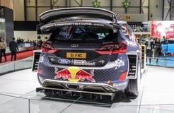 Швейцария; Женева; 8-ое марта 2018; Фиеста RS WRC Форда, задний sid стоковое изображение