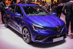 Швейцария; Женева; 9-ое марта 2019; Renault Clio; 89th международное мотор-шоу в Женеве от седьмого к семнадцатому из марта 2019 стоковое фото rf