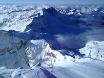 Швейцария 3000 метров выше уровень моря Стоковое Изображение