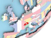 Швейцария с флагом бесплатная иллюстрация