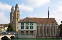 Швейцария zurich Река Limmat Стоковое Фото