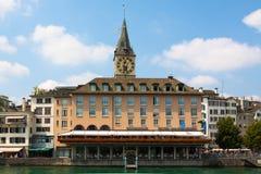 Швейцария zurich Река Limmat Стоковые Фотографии RF