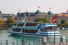 Швейцария zurich Река Limmat Стоковая Фотография