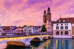 Швейцария zurich Стоковая Фотография