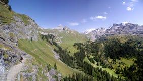 Швейцарская панорама Стоковое Изображение RF