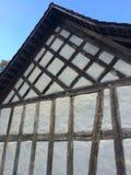 Швейцарская традиционная стена дома стоковое фото