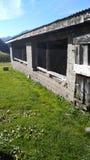 Швейцарская ферма на горе Стоковая Фотография RF