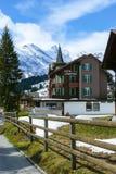 Швейцарские Альп увиденные от Murren в солнечном дне стоковая фотография