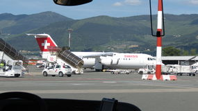 Швейцарские воздушные судн авиалиний Стоковое фото RF