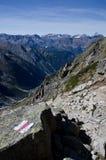 Швейцарские горные вершины Стоковая Фотография RF