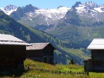 Швейцарские горы Стоковые Фото