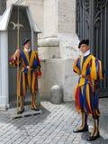 Швейцарские предохранители в государстве Ватикан, Риме, Италии Стоковые Изображения