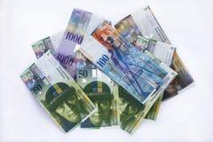 Швейцарские франки кредиток Стоковые Изображения RF