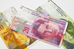 Швейцарские франки Стоковое Изображение RF