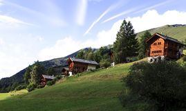 Швейцарские Chalets Стоковое Изображение