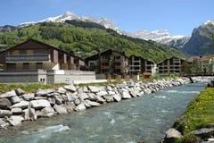 Швейцарский ландшафт альп Стоковое Фото