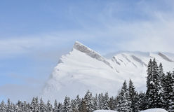 Швейцарский ландшафт горных вершин Стоковое фото RF
