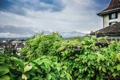 Швейцарский ландшафт Стоковые Фото