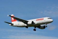 Швейцарский аэробус/A320-214/HB-IJL Стоковое Изображение