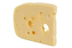 Швейцарский или голландский сыр с отверстиями Стоковые Фотографии RF