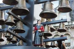 Швейцарский конец-вверх колокольчика стоковые изображения