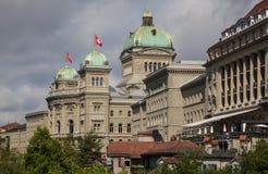 Швейцарский парламент Bern, Швейцария Стоковое Изображение