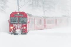 Швейцарский поезд горы Стоковое Изображение